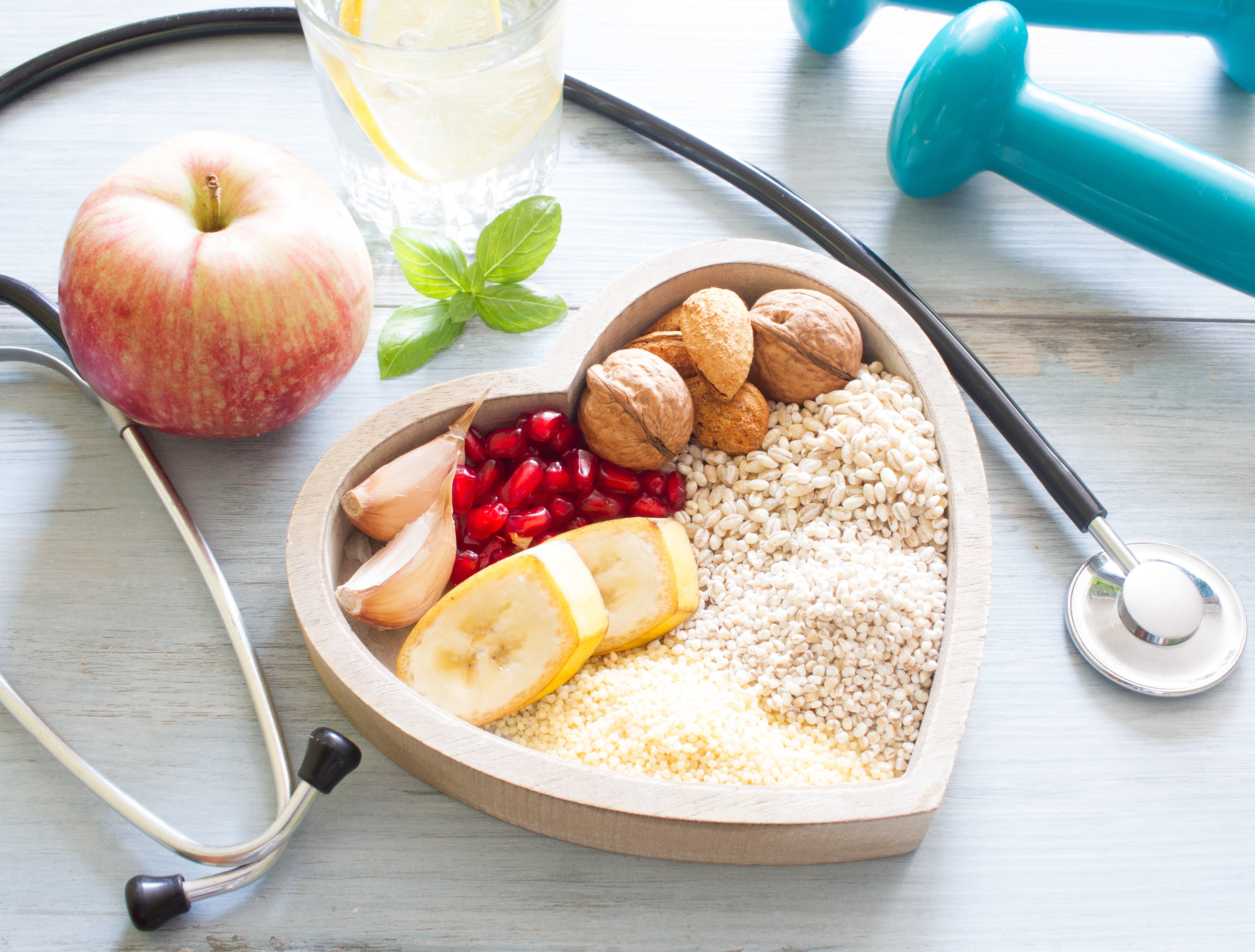 healthy bowl and stethoscope
