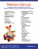 Download Our Pediatric Wish List