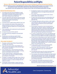 Patient Responsibilities & Rights Download